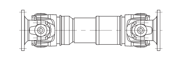 heavy-duty universal shaft